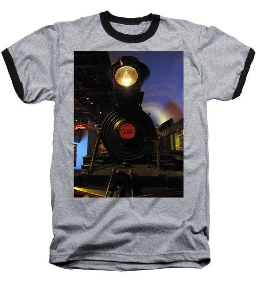 Engine No. 132 Baseball T-Shirt by Keith Stokes