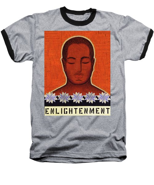Enlightenment Baseball T-Shirt by Gloria Rothrock