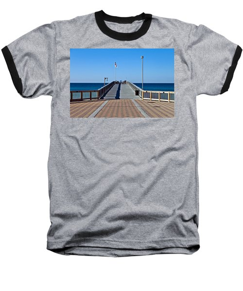 Baseball T-Shirt featuring the photograph Entrance To A Fishing Pier by Susan Leggett