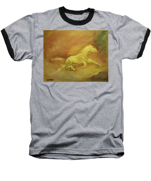 Baseball T-Shirt featuring the painting Escaping The Flames by George Pedro