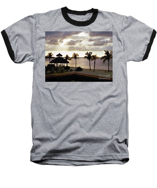 Evening In The Keys - Key Largo Baseball T-Shirt
