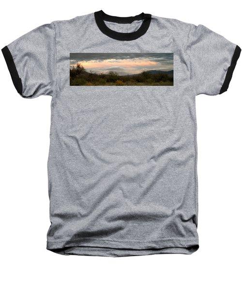 Evening In Tucson Baseball T-Shirt by Kume Bryant