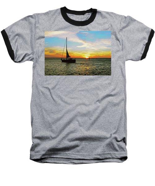 Evening Sailing Baseball T-Shirt