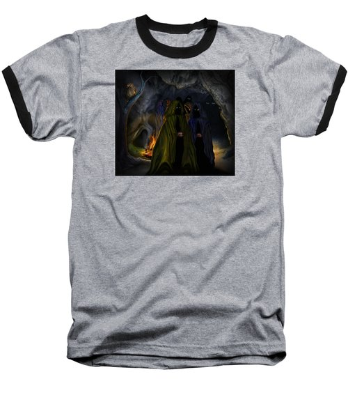 Evil Speaking Baseball T-Shirt by Alessandro Della Pietra