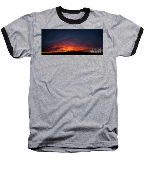 Expansive Sunset Baseball T-Shirt