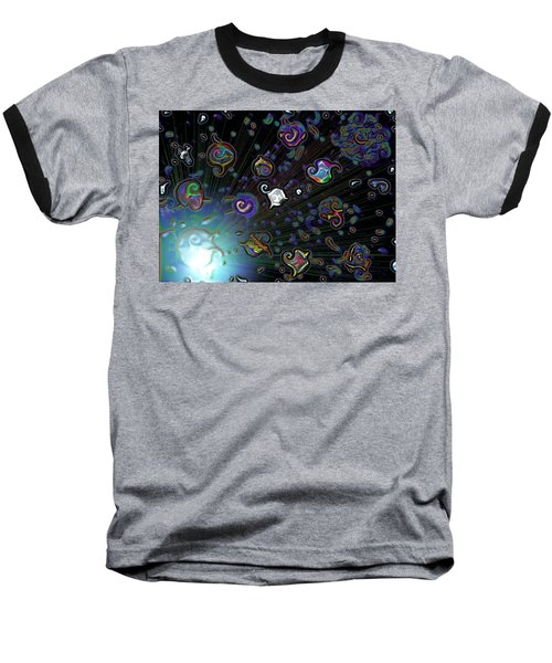 Exploding Star Baseball T-Shirt by Alec Drake