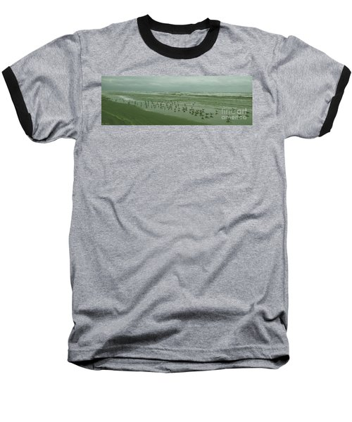 Baseball T-Shirt featuring the photograph Facing The Wind by Donna Brown