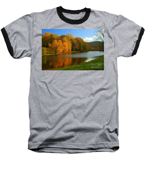 Fall In New York State Baseball T-Shirt by Mark Gilman