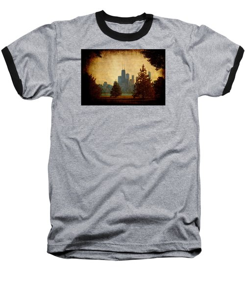 Fall In The City Baseball T-Shirt by Milena Ilieva