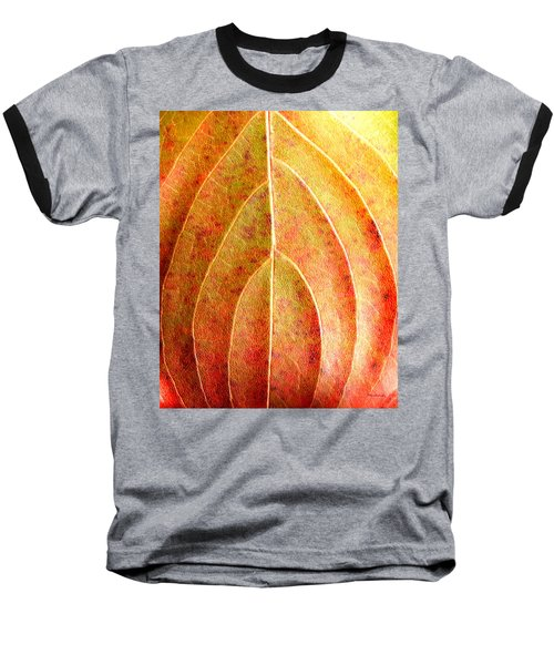 Fall Leaf Upclose Baseball T-Shirt