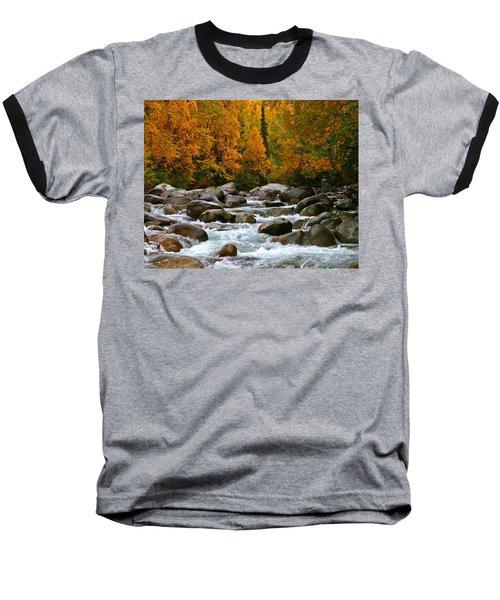 Fall On The Little Susitna River Baseball T-Shirt