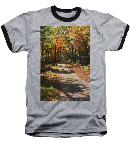 Fall On The Wyrick Trail Baseball T-Shirt