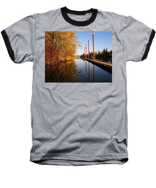 Fall Pier Baseball T-Shirt