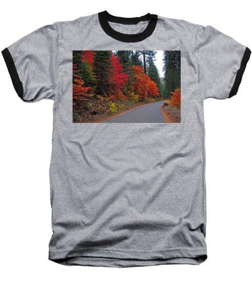 Fall's Splendor Baseball T-Shirt by Lynn Bauer
