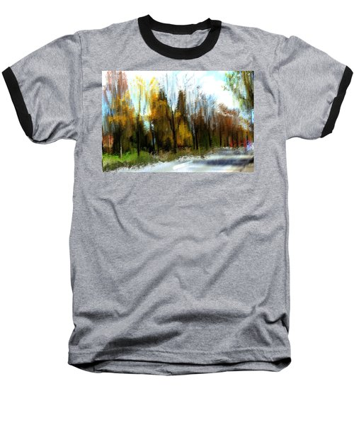 Baseball T-Shirt featuring the mixed media Farmington by Terence Morrissey