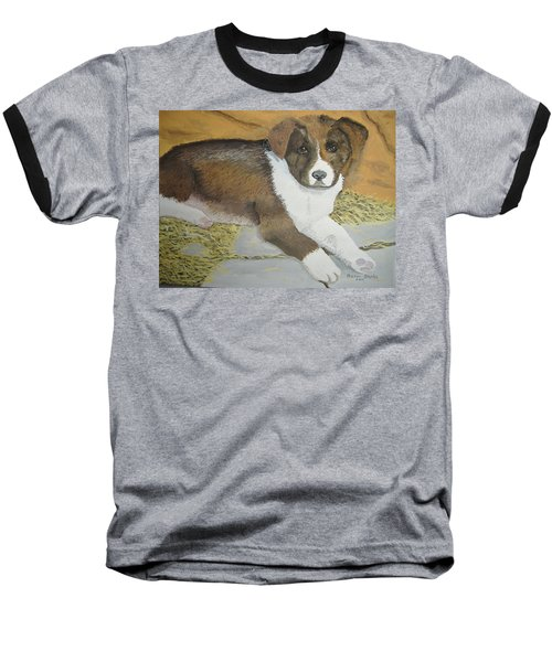 Baseball T-Shirt featuring the painting Fat Puppy by Norm Starks