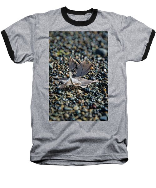Baseball T-Shirt featuring the photograph White Feather by Marilyn Wilson