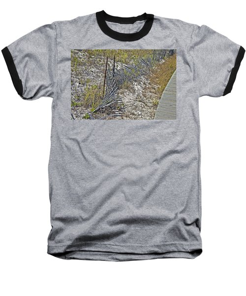 Baseball T-Shirt featuring the photograph Fence And Boardwalk by Susan Leggett