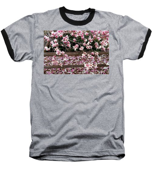 Baseball T-Shirt featuring the photograph Fence Of Flowers by Elizabeth Winter