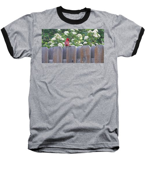 Baseball T-Shirt featuring the photograph Fence Top by Elizabeth Winter