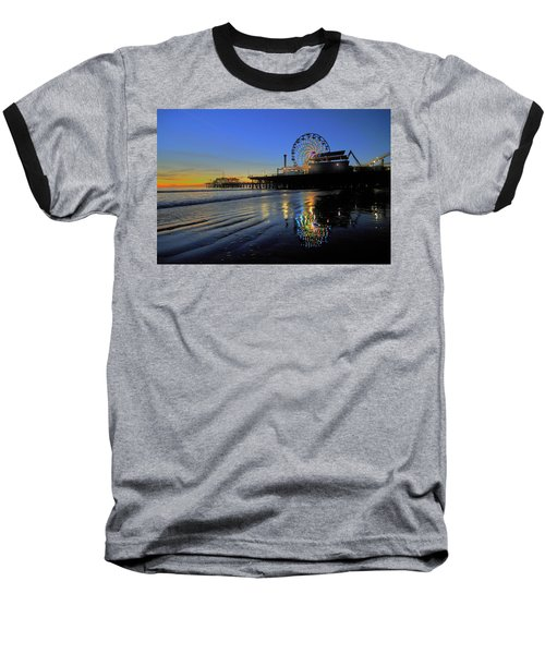 Ferris Wheel Sunset Baseball T-Shirt