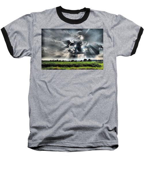 Field Of Beams Baseball T-Shirt