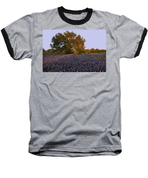 Field Of Blue Baseball T-Shirt