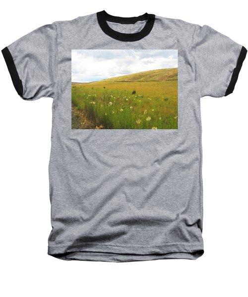 Field Of Dandelions Baseball T-Shirt