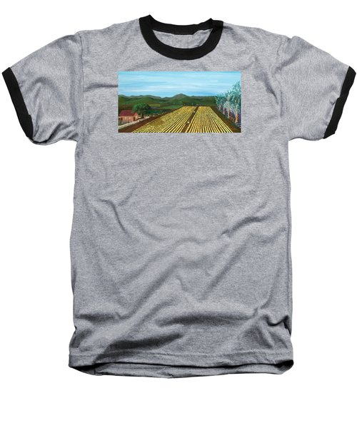 Field Of Yarrow-that's A Flower Baseball T-Shirt by Katherine Young-Beck