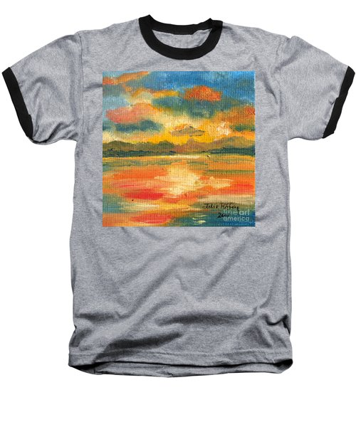 Fiery Sunset Baseball T-Shirt by Julie Brugh Riffey