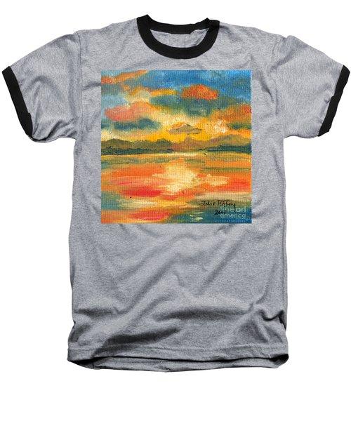 Fiery Sunset Baseball T-Shirt