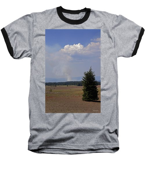 Fire In The Cascades Baseball T-Shirt by Mick Anderson