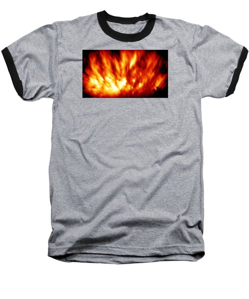Fire In The Starry Sky Baseball T-Shirt by Paul  Wilford