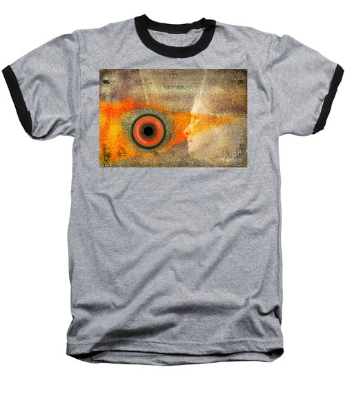Fire Look Baseball T-Shirt by Rosa Cobos