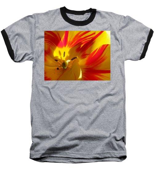 Fire Tulip Baseball T-Shirt