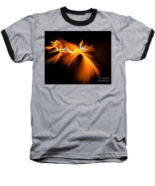 Fireflies Baseball T-Shirt by Victoria Harrington