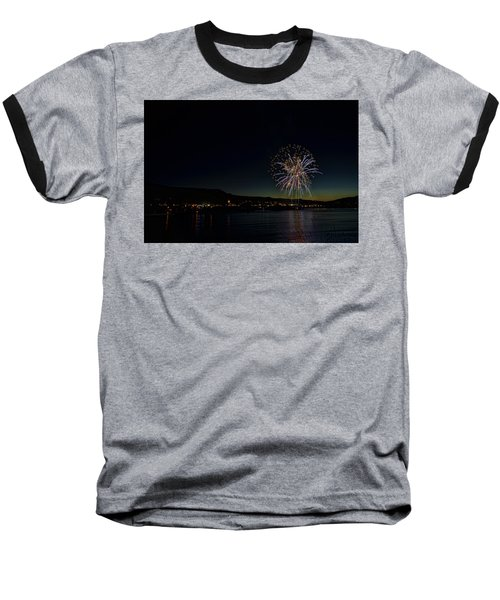 Fireworks On The River Baseball T-Shirt