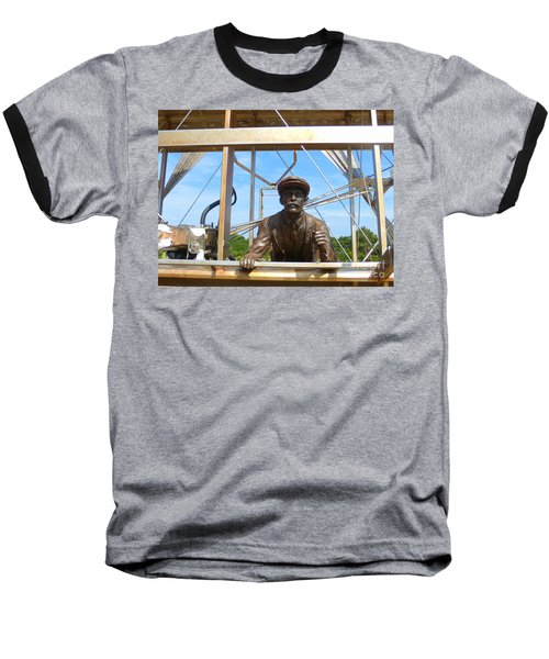 Baseball T-Shirt featuring the sculpture First In Flight  by Lydia Holly