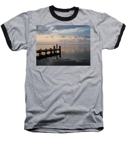 Baseball T-Shirt featuring the photograph First Light by Clara Sue Beym