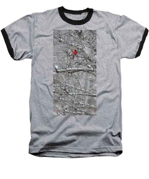 Baseball T-Shirt featuring the photograph First Snow Fall by Kume Bryant
