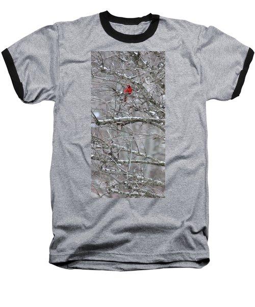 First Snow Fall Baseball T-Shirt by Kume Bryant