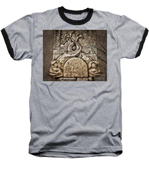 Fish Astrology Baseball T-Shirt by Danuta Bennett