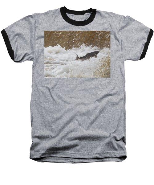 Fish Jumping Upstream In The Water Baseball T-Shirt