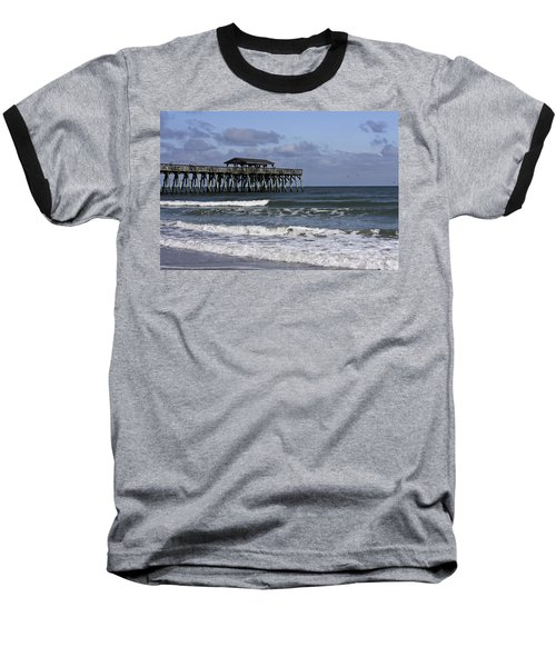 Fishing On The Pier Baseball T-Shirt