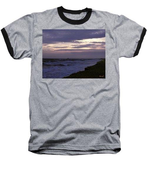 Fishing Pier Before The Storm 14a Baseball T-Shirt by Gerry Gantt