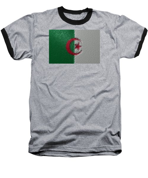 Baseball T-Shirt featuring the digital art Flag Of Algeria by Jeff Iverson