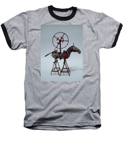 Flaming Heart Baseball T-Shirt
