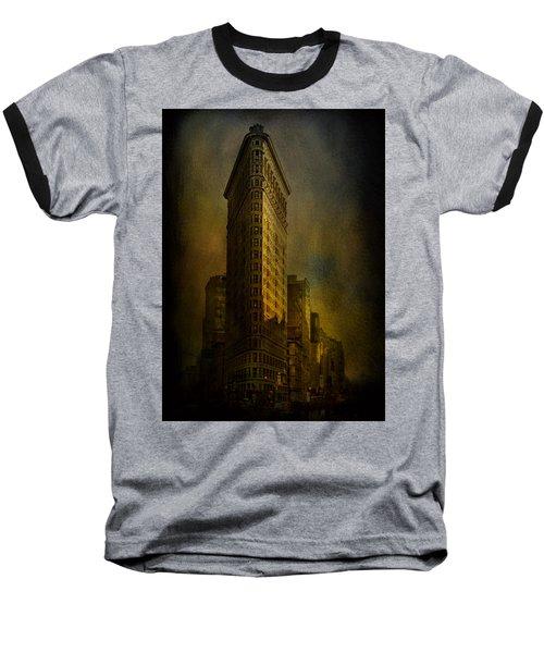 Flatiron Building...my View..revised Baseball T-Shirt by Jeff Burgess