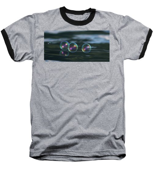 Baseball T-Shirt featuring the photograph Floating Bubbles by Cathie Douglas