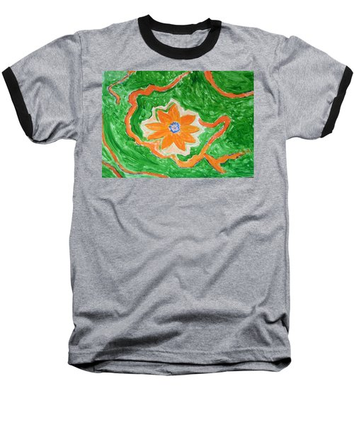 Baseball T-Shirt featuring the painting Floating Flower by Sonali Gangane